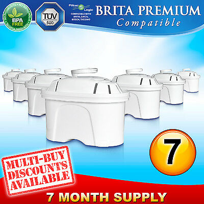 7 x FL402 Replacement Water Filter Compatible with Brita Maxtra Jug Cartridge