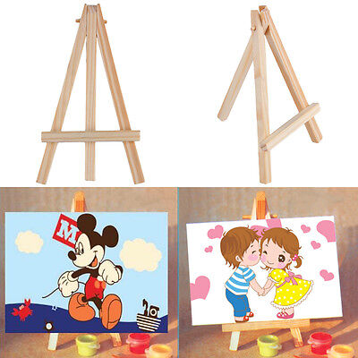 Kids Mini Wooden Easel Artist Art Painting Name Card Stand Display Holder LS