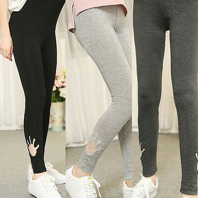 Casual Maternity Lovely Vola Pattern Embroidery Pants For Pregnant Women MC