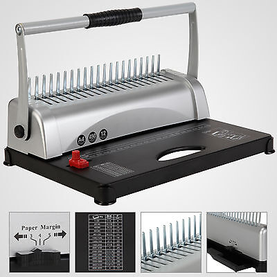 Paper Punch Binding Binder Machine 450 Sheet 21 Hole Adjustable W/200 Free Combs
