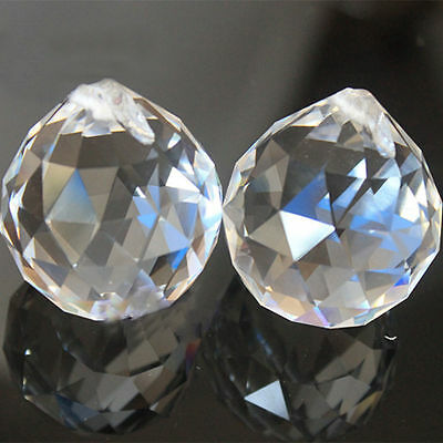 2PCS Hot Clear Crystal Feng Shui Lamp Ball Prism Rainbow Sun Wedding Decor 20mm