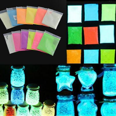 Super Bright in the Dark Fluorescent Powder Glow Pigment 10 Colors Remarkable