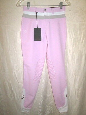 New CAVALLERIA TOSCANA Pink Band Breeches 14 $225 Tan White