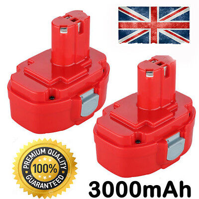 2x 3.0AH 18V NI-MH Battery For Makita 1822,1823,1833,1834,1835,1835F,PA18,4334D