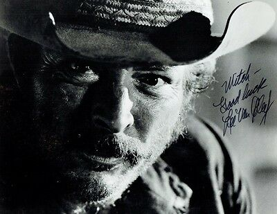 LEE VAN CLEEF - Signed B/W Photograph from a film scene
