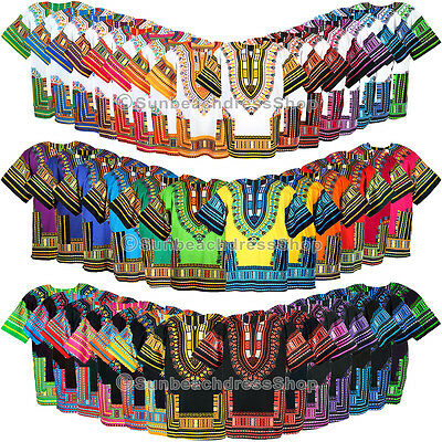 42 Color Afrika Dashiki Cotton Mexican African Hemd Damen Herren Shirts Var