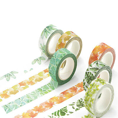 1.5cm  Flower Plants Design Washi Tape Sticker Decor Scrapbook Adhesive Paper