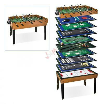 Table multi-jeux 15 jeux en 1 - baby foot - billard - tennis table etc D70151