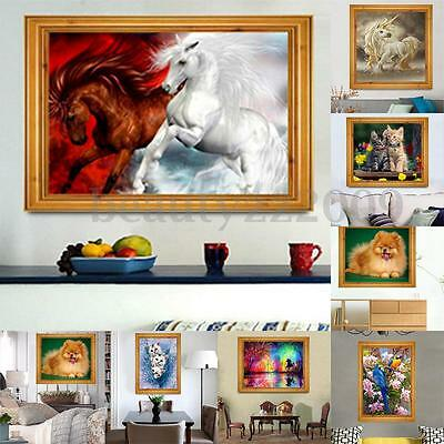 5D DIY Diamond Painting Animals Series Embroidery Cross Stitch Home Decor Crafts