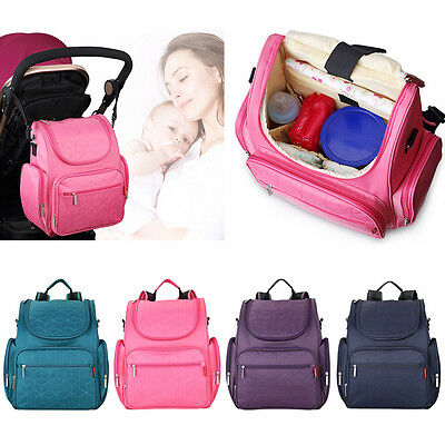 Baby Diaper Big Capacity Nappy Changing Bag Mummy Maternity Shoulder Backpack