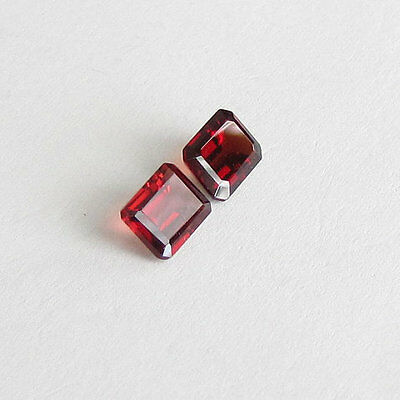 Natural Red Garnet Octagon Cut Calibrated Size Best Red Color Loose Gemstone