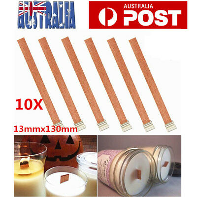 50X Wooden Candle Wicks Core Supplies W/ Sustainer DIY Candle Making for Party