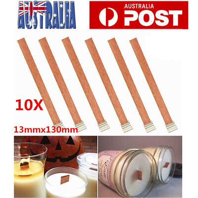 50X Wooden Candle Wicks Core Supplies With Sustainer DIY Soap Making Material AU