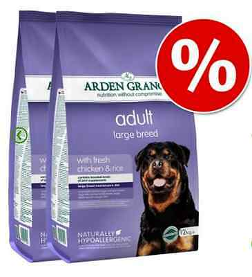 Arden Grange Large Breed Adult Dry Dog Food Chicken &Rice Nutritional  1 Or 2X12