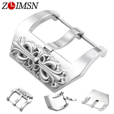 Vintage Stainless Steel Watch Buckle Pre-v Leather Band Strap 20 - 26mm for PAN