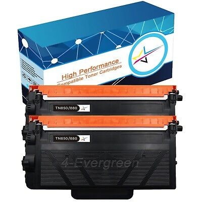 2 Pack High Yield TN880 Toner Cartridge for Brother TN850 HL-L6300DW MFC-L6800DW