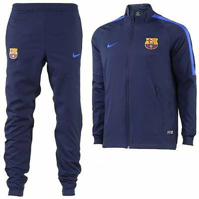 Nike Barcelona Squad Woven Tracksuit 2016/17 - Navy - Kids