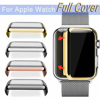 Ultra-Thin Slim Electroplate Metal Plated Hard Case Cover for Apple Watch iWatch