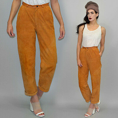 Vintage Aleksander SUEDE + Smooth Leather Slouchy Baggy Pants Trousers Culottes