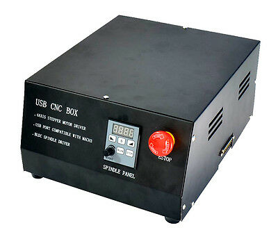 CNC USB MACH3 Control Box 4 Axis 400W Spindle Driver Controller For Engraving