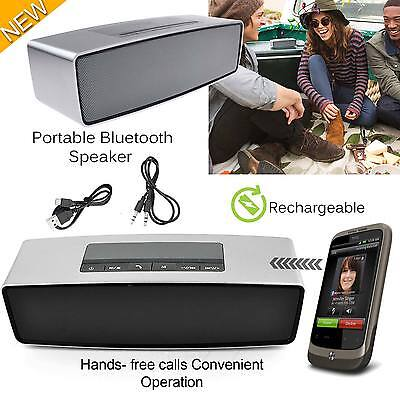 Wireless Portable Bluetooth Speaker Stereo AUX USB Powerful Smart Support TF New