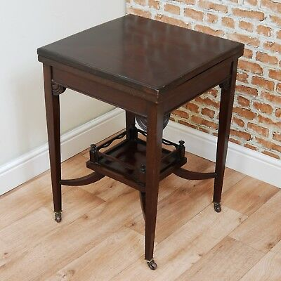 Antique Art Nouveau Edwardian Mahogany Games / Occasional / Hall / Lamp Table