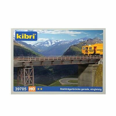 39705 Kibri HO Gauge Straight Steel Bridge Single Track Plastic Kit New & Boxed