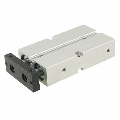Dual Action 20mm Bore 50mm Stroke Double Rod Pneumatic Air Cylinder