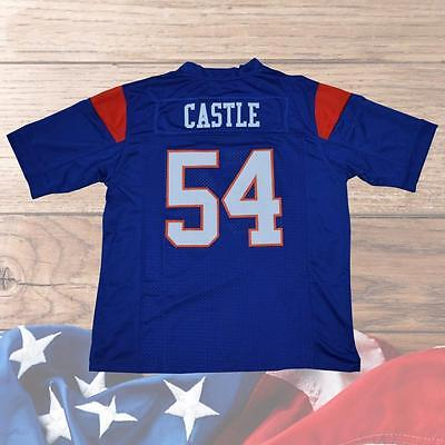 Thad Castle #54 Blue Mountain State American Football Jersey Movie Stitched Blue