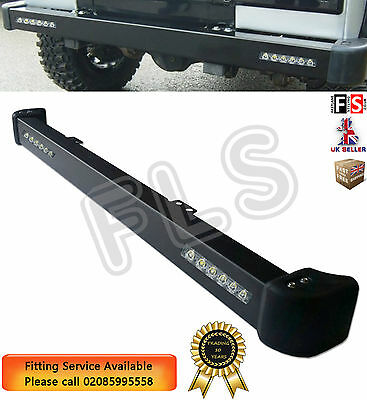 Land Rover Defender Front Bumper With Led Daytime Drl Running Lights & End Caps