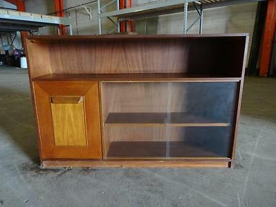 Vintage Retro Stateroom By Stonehill Bookcase With Glass Doors