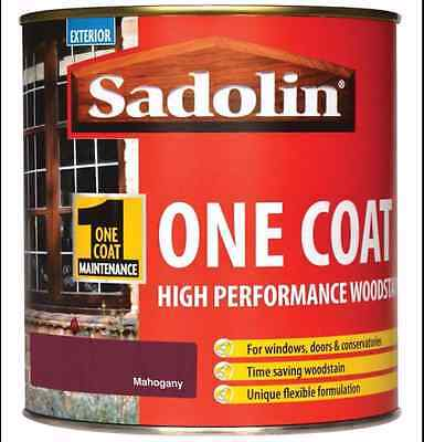 Sadolin High Performance Woodstain - 5L - Mahogany - One Coat - Exterior Wood