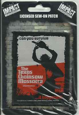 TEXAS CHAINSAW MASSACRE can you survive 2014 WOVEN SEW ON PATCH official IMPORT