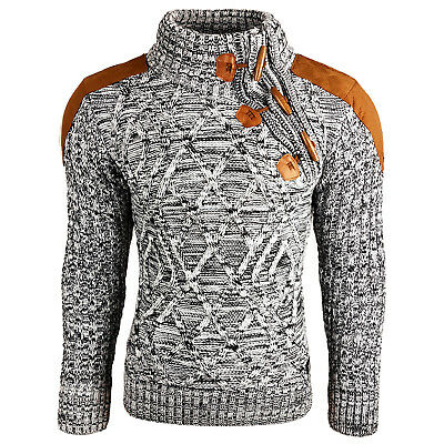 Subliminal Mode - Pull Over Col montant Homme SB-13283 Grosse Maille Camionneur