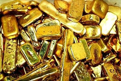 100 grams gold recovery gold bar Melted Drop Scrap plated Recovered cpu NEW