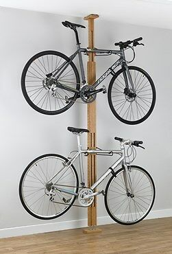 Gear Up OakRak Floor-To-Ceiling 2 To 4-bike Rack Floor to Ceiling