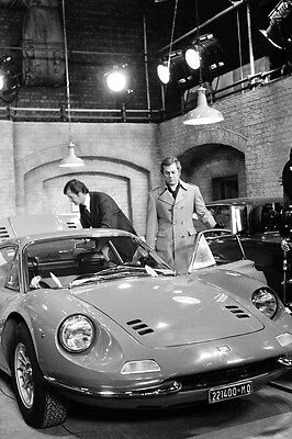 The Persuaders! Roger Moore Tony Curtis Ferrari Dino car garage 24x36 Poster