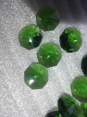 600PCS14MM dark green octagonal crystal glass beads decorative K9 crystal chande