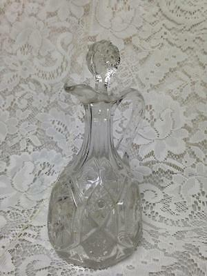 Vintage, Old American Pressed Glass, Blown Condiment 7.5in x 3.5in