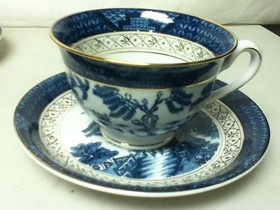 Vintage, Double Phoenix, Nikko Ironstone, Japan, Blue Willow Cup and Saucer