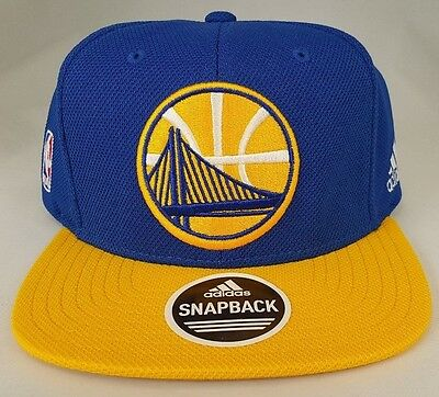 Golden State Warriors Royal and Yellow Snapback by Adidas