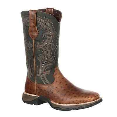 DRD0149 Lady Rebel Durango Women's Ostrich Embossed Pull-On Western Boot NEW