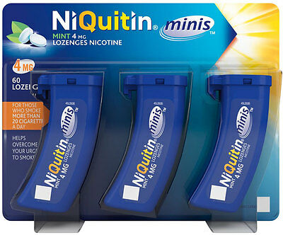 Niquitin Mini 4mg Mint Lozenges (60)