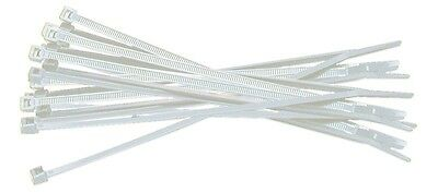 """4"""" Heavy Duty Natural Nylon Cable Zip Tie Wire Organization CCTV- White 500 Pack"""