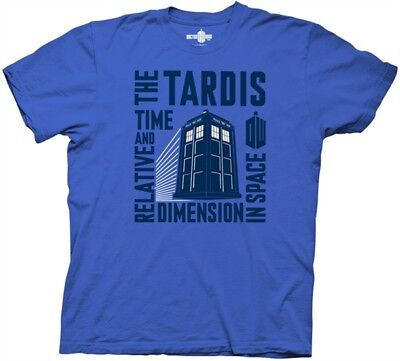Doctor Who, The Tardis Time and Relative Dimension in Space T-Shirt, NEW UNWORN