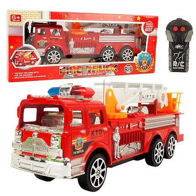 Popular Kids Child Remote Control RC Electric Fire Engine Fire Ladder Truck Toy