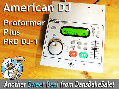 American DJ Proformer Plus PRO DJ-1 Compact Disc Player - Tested Works Great