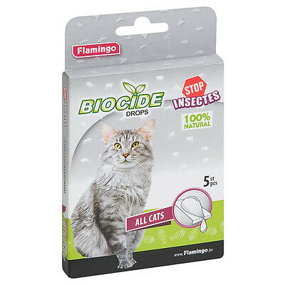 Karlie Flamingo Biocide Pipettes pour chats, NEUF