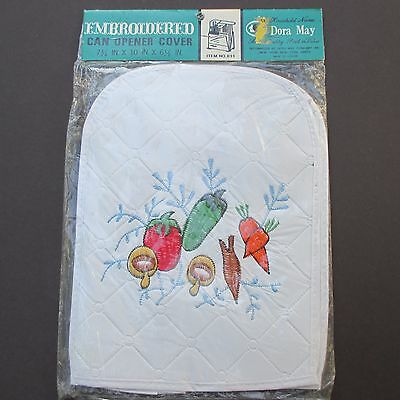 Vintage Can Opener Cover Dora May Embroidered Kitchen Appliance Cover Retro