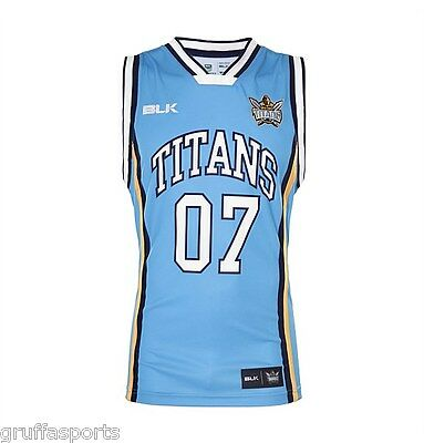 Gold Coast Titans Basketball Singlet Sizes S - XL Adults NRL BLK SALE!! 6